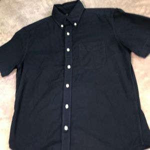 Dark Blue Gap Short Sleeve Button Up